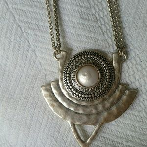 Lucky Brand Silver Tribal Pendant Necklace